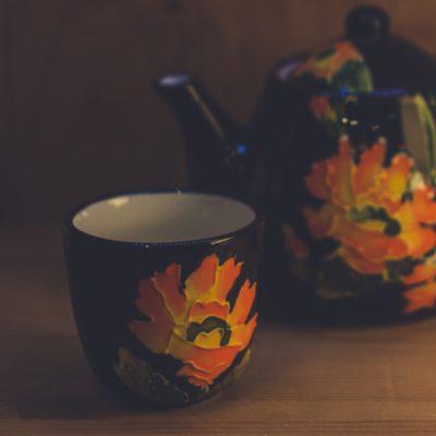 Чайный набор Оранжевое пламя